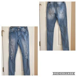 Mudd skinny distressed ripped jeans